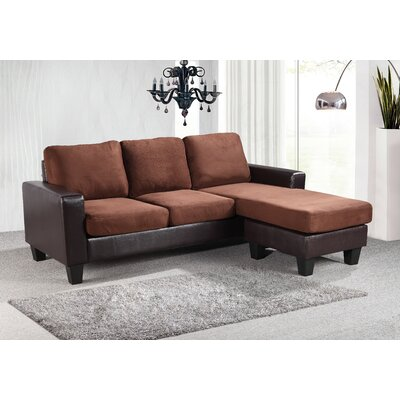 Bratton Heights Sectional Upholstery: Chocolate/Brown