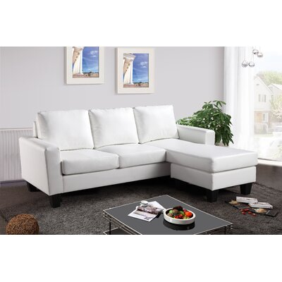 Bratton Heights Sectional Upholstery: White