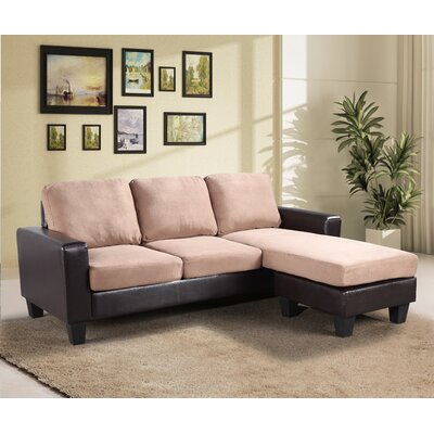 Bratton Heights Sectional Upholstery: Saddle/Brown