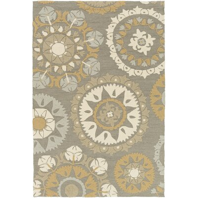 Canaan Beige/Gray Indoor/Outdoor Area Rug Rug Size: Rectangle 5 x 76