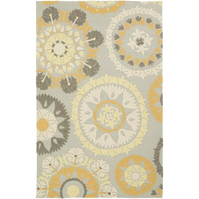 Cottingham Hand-Hooked Beige/Gold Indoor/Outdoor Area Rug Rug Size: 2 x 3