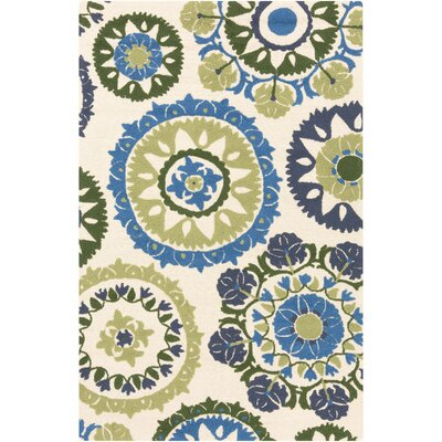 Cottingham Hand-Hooked Multi-Colored Area Rug Rug size: 2 x 3