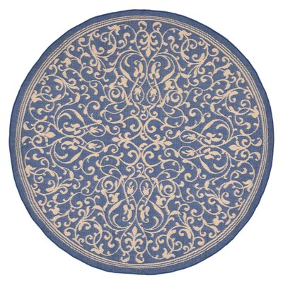 Brasstown Blue Indoor/Outdoor Area Rug Rug Size: 710 x 910