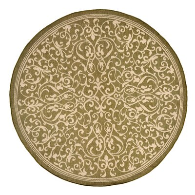 Brasstown Brown Indoor/Outdoor Area Rug Rug Size: Round 710