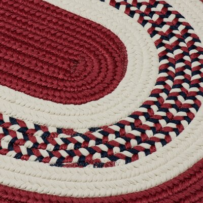 Germain Red Area Rug Rug Size: Round 8'