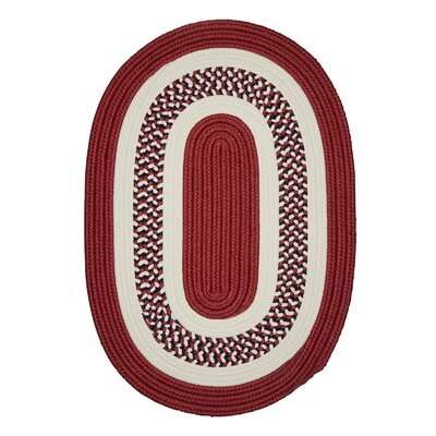 Germain Red Area Rug Rug Size: Round 12