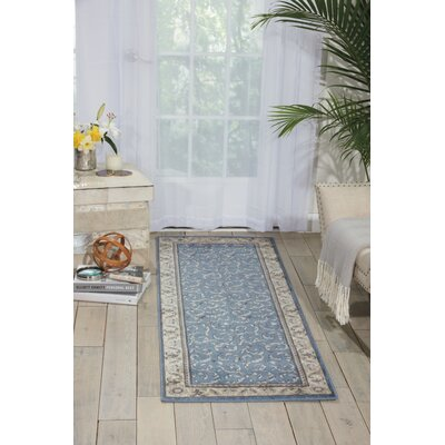 Godfrey Light Blue/Beige Area Rug Rug Size: Runner 2'3