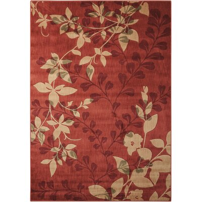 Wellesley Red Area Rug Rug Size: 53 x 75