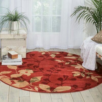 Wellesley Red Area Rug Rug Size: Round 56