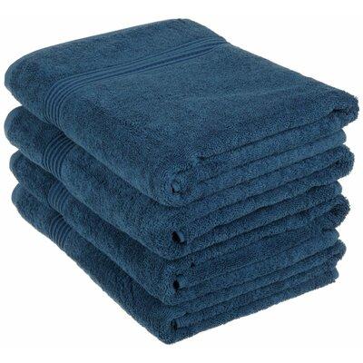 Nashville 4 Piece Bath Towel Set Color: Sapphire