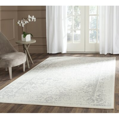 Reynolds Ivory/Silver Area Rug Rug Size: Rectangle 4 x 6