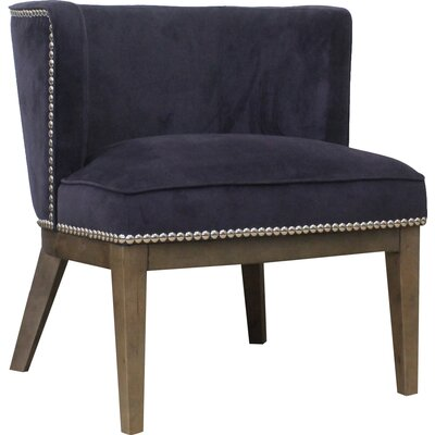 Slipper Chair Upholstery: Purple