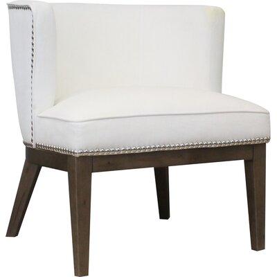 Slipper Chair Upholstery: White