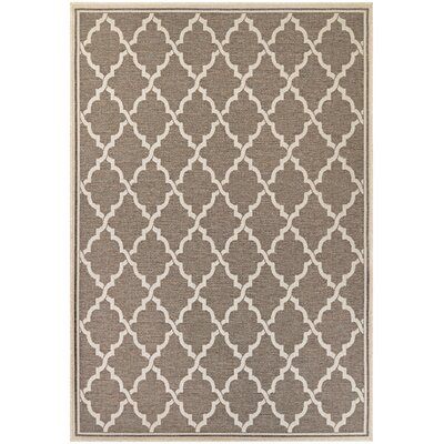 Cardwell Brown Indoor/Outdoor Area Rug Rug Size: 53 x 76