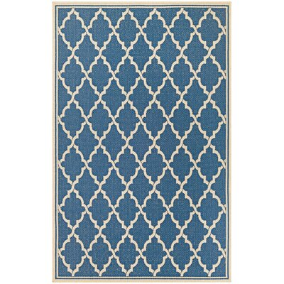 Cardwell Blue Indoor/Outdoor Area Rug Rug Size: 53 x 76