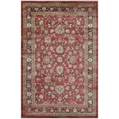 Connors Farahan Amulet Red /Black Area Rug Rug Size: Rectangle 5'3