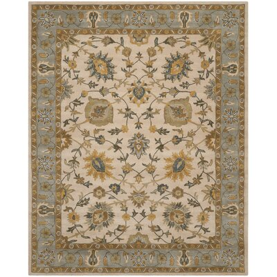 Audane Ivory / Light Blue Area Rug Rug Size: Rectangle 3 x 5