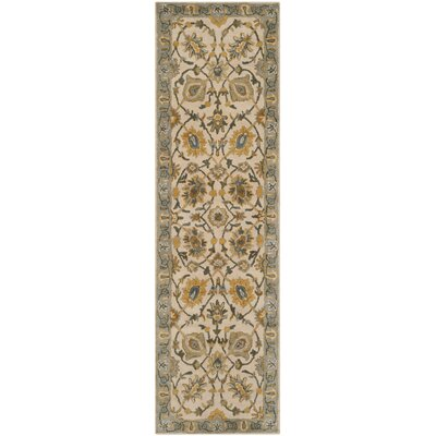 Audane Ivory / Light Blue Area Rug Rug Size: Runner 23 x 8