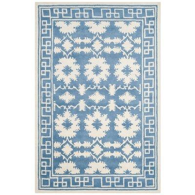 Amundson Hand Tufted Blue/Ivory Area Rug Rug Size: 6 x 9