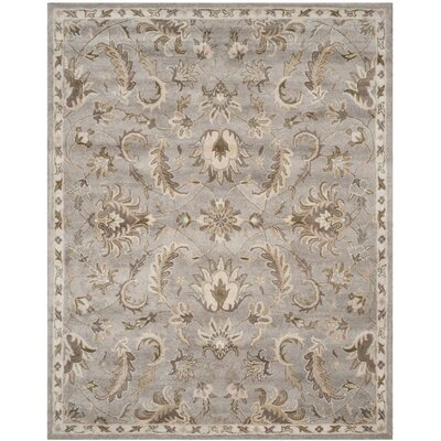 Amundson Hand Tufted Light Gray Area Rug Rug Size: 8 x 10