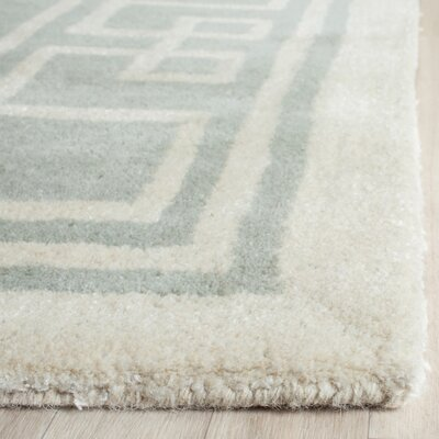 Amundson Hand-Tufted Gray/Ivory Area Rug Rug Size: Rectangle 4 x 6