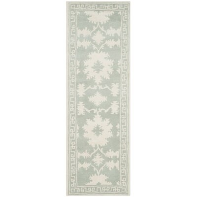 Amundson Hand-Tufted Gray/Ivory Area Rug Rug Size: Runner 23 x 7