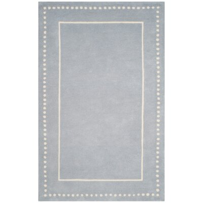 Amundson Hand-Tufted Light Blue/Ivory Area Rug Rug Size: Round 5