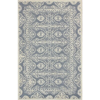 Amundson Hand-Tufted Blue/Ivory Area Rug Rug Size: Rectangle 26 x 4