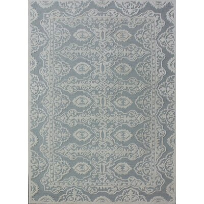 Amundson Hand-Tufted Gray/Ivory Area Rug Rug Size: Rectangle 8 x 10