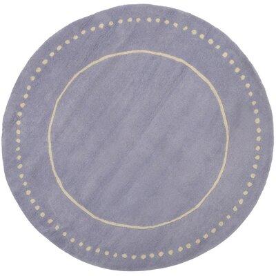 Amundson Hand-Tufted Gray Area Rug Rug Size: Round 5