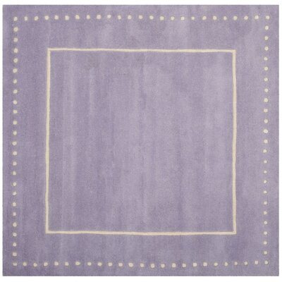 Amundson Hand-Tufted Gray Area Rug Rug Size: Square 5