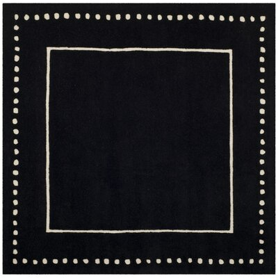 Amundson Hand-Tufted Black/Beige Area Rug Rug Size: Square 5