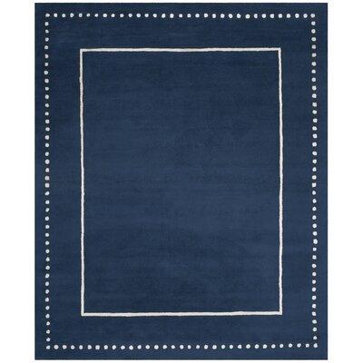 Amundson Hand-Tufted Navy Blue Indoor Area Rug Rug Size: 26 x 4