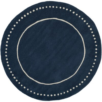 Amundson Hand-Tufted Navy Blue Indoor Area Rug Rug Size: Rectangle 6 x 9