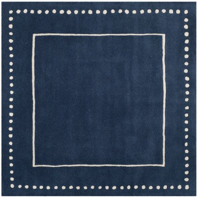 Amundson Hand-Tufted Navy Blue Indoor Area Rug Rug Size: Square 5