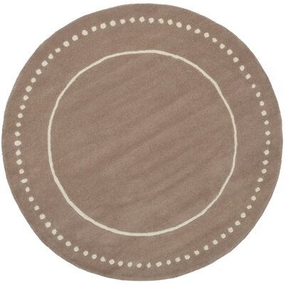 Amundson Hand-Tufted Beige Indoor Area Rug Rug Size: Rectangle 4 x 6