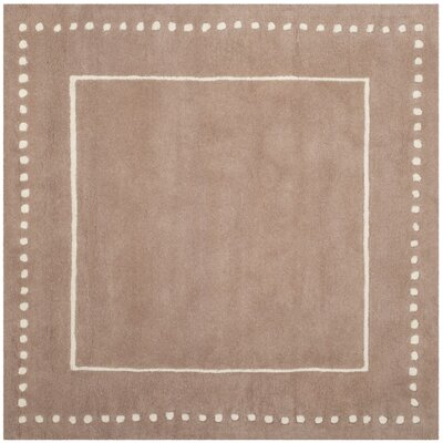 Amundson Hand-Tufted Beige Indoor Area Rug Rug Size: Square 5