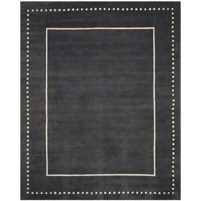 Amundson Hand-Tufted Gray Indoor Area Rug Rug Size: 4 x 6