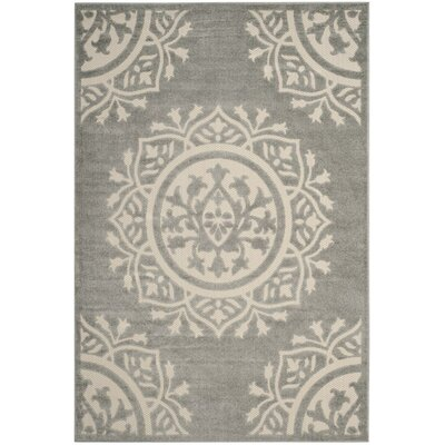 Allerton Gray Outddor Indoor/Outdoor Area Rug Rug Size: 4 x 6