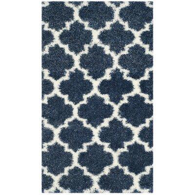 Bingham Blue/White Area Rug Rug Size: 3 x 5