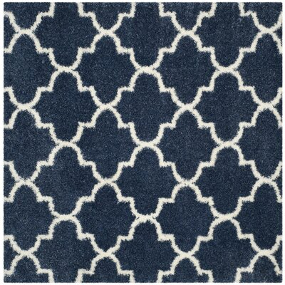 Bingham Blue/White Area Rug Rug Size: Square 67