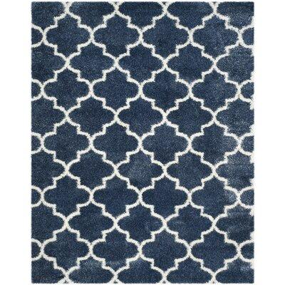 Bingham Blue/White Area Rug Rug Size: 8 x 10