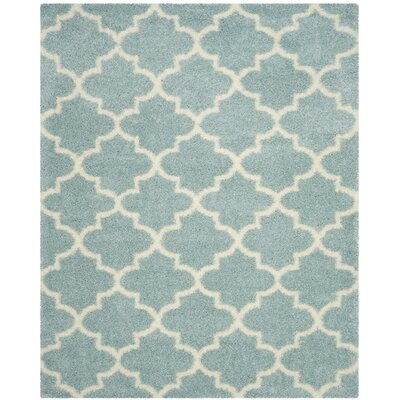 Bingham LightBlue/Ivory Area Rug Rug Size: Rectangle 8 x 10