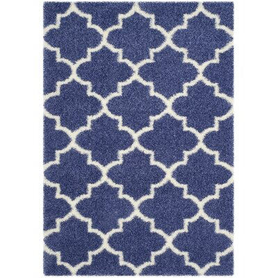 Bingham Blue Area Rug Rug Size: Rectangle 53 x 76