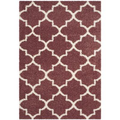 Bingham Pink Indoor  Area Rug Rug Size: 53 x 76