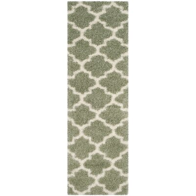 Bingham Green Indoor Area Rug Rug Size: Runner 23 x 7