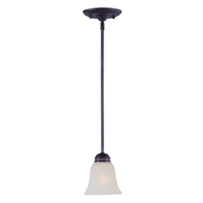 Powell 1-Light Mini Pendant Finish: Oil Rubbed Bronze, Shade Color: Ice