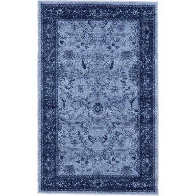 Attleborough Blue Area Rug Rug Size: 5 x 8