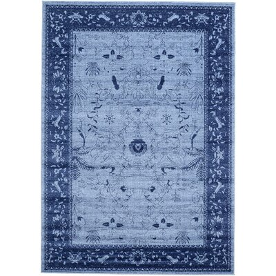 Attleborough Blue Area Rug Rug Size: 7 x 10