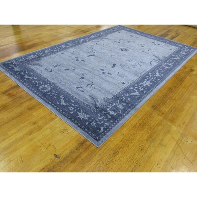 Attleborough Blue Area Rug Rug Size: 10'6